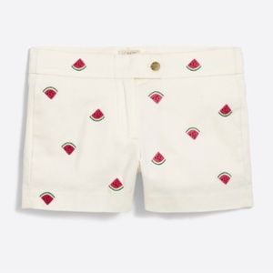 "J Crew 3"" Embroidered Watermelon Chino Shorts"